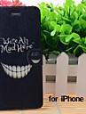 caricatura dentes loucos padrão de couro casos de corpo inteiro com suporte e slot para iphone 6