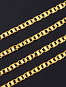Necklace Gold Necklace Chain Necklace,18K Gold Plated Jewelry Chunky 4mm ,55cm Jewelry  for Men Women U7® Christmas Gifts