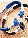 Муж. Кожаные браслеты - Кожа Уникальный дизайн, Мода Браслеты Коричневый / Синий анкер Назначение Новогодние подарки / Для вечеринок /