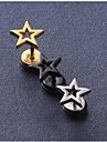 Серьги-гвоздики Титановая сталь В форме звезды Черный Серебряный Золотой Бижутерия Свадьба Для вечеринок Повседневные