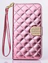 Pour Samsung Galaxy Coque Portefeuille Porte Carte Strass Avec Support Clapet Coque Coque Intégrale Coque Forme Géométrique Cuir PU pour
