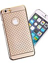 Translucence Lace Design Vacuum Plating PC Back Cover for iPhone 6(Assorted Colors)