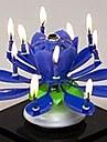 fiacao de aniversario musical flor vela plastico