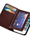 durável pu caso carteira de couro para Apple iPhone 4 / 4s