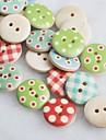 color scrapbook dibujo Scraft coser botones de madera de bricolaje (10 piezas de color al azar)