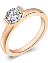 Women's Band Ring Rose Gold Rhinestone Alloy Party Daily Casual Costume Jewelry