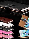 Card Holder PU Leather Solid Cover Case for iPhone 6s 6 Plus