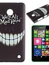 étui rigide dents folles modèle de pc pour Nokia Lumia N630