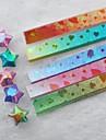 Gradient glänzenden glücklichen Stern Origami Materialien (80 Seiten / Paket zufällige Farbe)