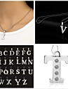 Pendant Necklace  -  Initial X, Y, Z Necklace 1pc For Party, Daily, Casual