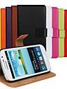 용 삼성 갤럭시 케이스 지갑 / 카드 홀더 / 스탠드 / 플립 케이스 풀 바디 케이스 단색 인조 가죽 Samsung Grand Neo