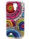 Для Кейс для  Samsung Galaxy С узором Кейс для Задняя крышка Кейс для Цветы TPU Samsung S4