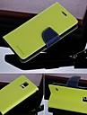 Capinha Para Samsung Galaxy Samsung Galaxy Capinhas Com Suporte Flip Capa Proteção Completa Côr Sólida PU Leather para S5