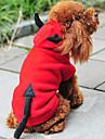 Gatos / Caes Fantasias / Camisola com Capuz Vermelho Roupas para Caes Inverno / Primavera/Outono Anjo e Diabo Fofo / Natal / Ano Novo