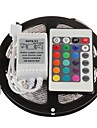 5M 300X5050 SMD RGB LED Strip Light with 24Key Remote Controller (DC12V)