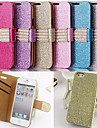 Glitter Powder Style PU Leather Full Body with Stand and Card Slot for iPhone 5/5S (Assorted Color)