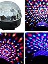 음성 활성화 rgb led 파티를위한 다채로운 회전 스포트 라이트 램프 램프 us plug
