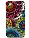 подсолнечное цветочный узор пу кожаный чехол для всего тела с слот для карт и стоять на iPhone 4s