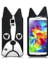 Lovely Dog Pattern Silicone Back Case for Samsung Galaxy S5 I9600