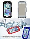 IP68 de protecao caso reservatorio de plastico e silicone a prova d\'agua para iPhone 6