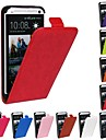 Flip-Open Horse Grain PU Leather Full Body Case for HTC One M7 (Assorted Colors)