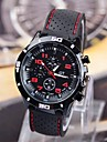 Men's Black Dial Silicone Band Quartz Analog Wrist Watch Cool Watch Unique Watch