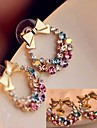 модные цвета алмазные лук серьги # 28-1