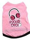 rocker chick styl bavlněné letní tričko pro psy (rozmanité velikosti)