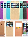 용 아이폰6케이스 / 아이폰6플러스 케이스 카드 홀더 / 스탠드 / 윈도우 / 플립 케이스 풀 바디 케이스 기하학 패턴 하드 인조 가죽 iPhone 6s Plus/6 Plus / iPhone 6s/6