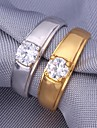 U7® 5MM 1ct Sparkle Cubic Zirconia Bridal 18K Gold Platinm Plated Rings