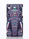 소니 엑스 페리아 Z2에 대한 코끼리 패턴 플라스틱 하드 케이스