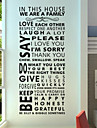 Autocolantes de Parede Decorativos - Etiquetas de parede de palavras e citacoes Vida Imovel Sala de Estar / Sala de Jantar / Lavavel / Removivel