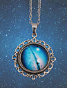 Eruner®Handmade Vintage Women's Pretty Galaxy Glass Dome Cabochon Pendant Necklace