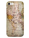 Travel Map Pattern Back Case for iPhone 6