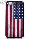 Lureme Кейс из поликарбоната для iPhone 5/5S. На задней панели - американский флаг в винтажном стиле