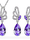 Crystal Wedding Party Daily Casual Crystal Austria Crystal Alloy Butterfly Animal Earrings Necklaces