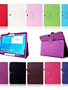 Case For Samsung Galaxy Samsung Galaxy Case with Stand / Flip Full Body Cases Solid Colored PU Leather for Tab 4 10.1