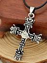 Муж. Ожерелья с подвесками Прочее Дракон В форме короны Крест Кожа Титановая сталь Искусственный бриллиант Уникальный дизайн Мода