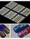 6PCS  3D Golden Flower  Nail Art Stickers