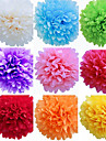 8 inch Tissue Paper Pom Poms Wedding Party Decor Craft Paper Flowers Wedding(Set of 4)