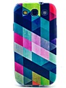 Square Pattern TPU Soft Case for S3 I9300 Galaxy S Series Cases / Covers