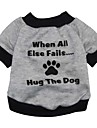 Cat Dog Shirt / T-Shirt Dog Clothes Letter & Number Gray Costume For Pets