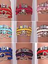 кожаные браслеты шарма eruner®leather браслеты Циркон многослойные сплав очаровывает браслеты ручной работы