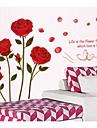 Phnom Penh romantico rosas adesivos de parede