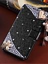 Para Samsung Galaxy Capinhas Porta-Cartao / Com Strass / Com Suporte / Flip Capinha Corpo Inteiro Capinha Desenho 3D Couro PU SamsungS4