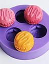 Three Holes Macarons Shaped Fondant Cake Chocolate Mold