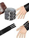 3 Wide Leather Wristband Leather Bracelet (2 Colors)