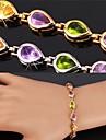 Feminino Pulseiras com Pendentes Tenis Pulseiras bijuterias Zirconia Cubica Pedaco de Platina Chapeado Dourado Liga Joias Para Casamento