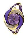 Femme Montre Tendance Bracelet de Montre Quartz Alliage Bande Etincelant Perles Bracelet Bleu Rouge Violet