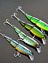4 pcs Hard Bait Minnow Fishing Lures Minnow Hard Bait Hard Plastic Sea Fishing Freshwater Fishing
